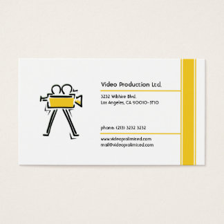 Movie producer business cards and business card templates for Video production business cards