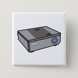 Video projector 2 inch square button