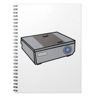 Video projector spiral notebook