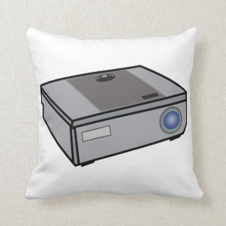 Video projector throw pillow