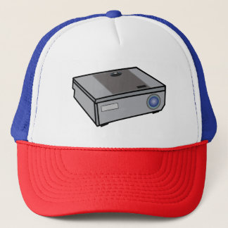 Video projector trucker hat