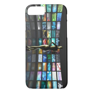 Video Streaming as Technology Concept with Lady iPhone 7 Case