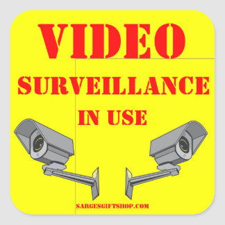 VIDEO SURVEILLANCE SQUARE STICKER