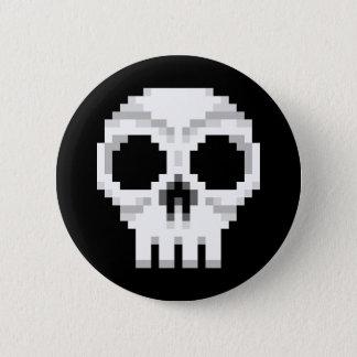 Videogame Death Skull - Pixel Art 2 Inch Round Button
