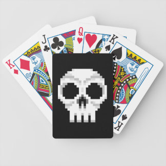 Videogame Death Skull - Pixel Art Bicycle Playing Cards