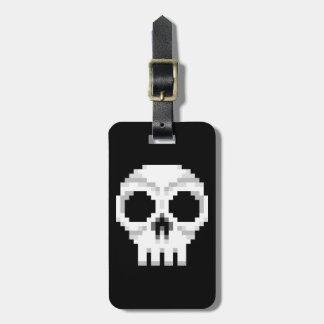 Videogame Death Skull - Pixel Art Luggage Tag