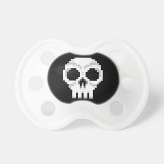 Videogame Death Skull - Pixel Art Pacifier