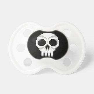 Videogame Death Skull - Pixel Art Pacifiers
