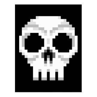 Videogame Death Skull - Pixel Art Postcard