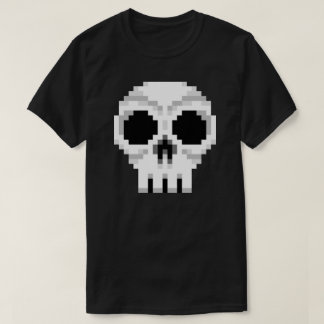 Videogame Death Skull - Pixel Art T-Shirt