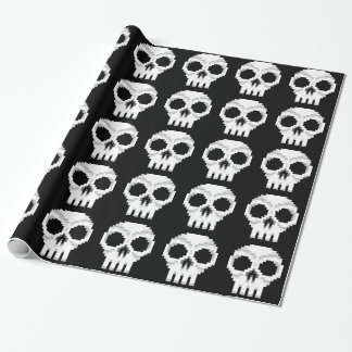 Videogame Death Skull - Pixel Art Wrapping Paper
