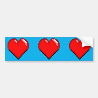 Videogame Life Heart - Pixel Heart Bumper Sticker