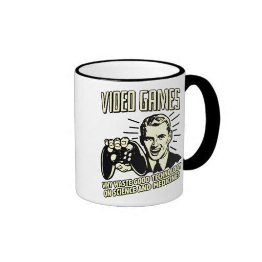 videogames ringer coffee mug