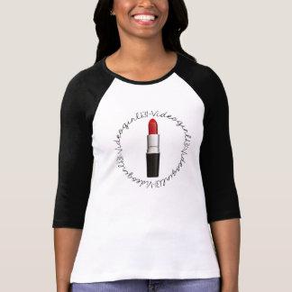 Videogirl131 Lipstick Half Sleeve Baseball Style T-shirt