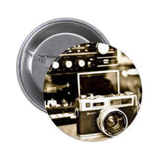 Vieil appareil-photo de photo macaron rond 5 cm