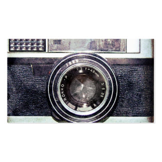 Vieil appareil-photo noir carte de visite standard