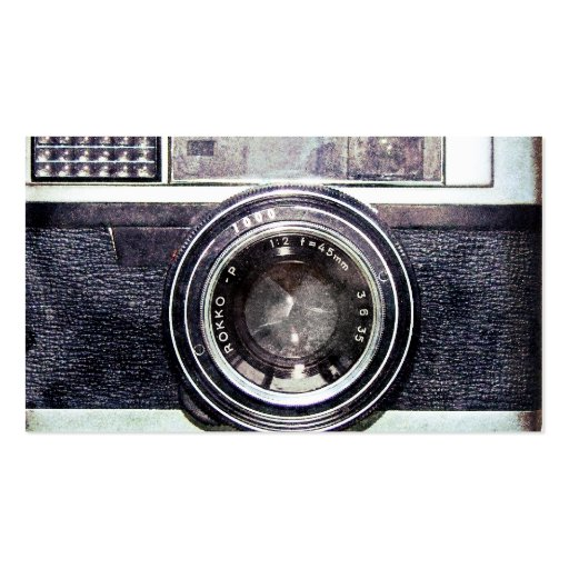 Vieil appareil-photo noir cartes de visite professionnelles