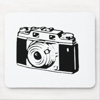 Vieil appareil-photo tapis de souris