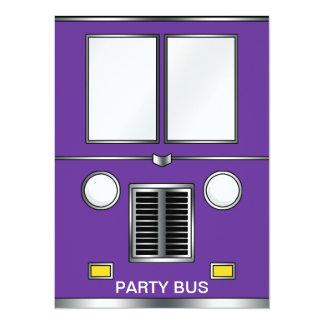 Vieil autobus du YE (couleur personnalisable) Carton D'invitation 13,97 Cm X 19,05 Cm