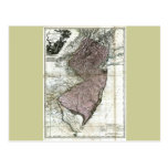 Vieille carte 1777 de New Jersey Cartes Postales
