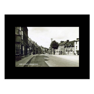 Vieille carte postale - grand-rue, Woodstock,