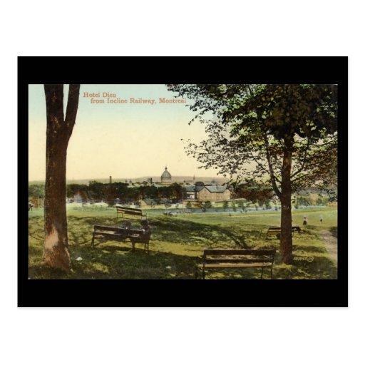 Vieille carte postale, Montréal, hôtel Dieu