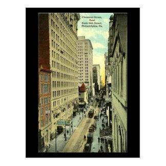 Vieille carte postale - Philadelphie, rue de
