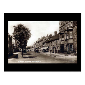 Vieille carte postale - St d'Oxford, Woodstock,