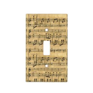 Vieille conception de papier parcheminé d illustra plaques interrupteur de lumière
