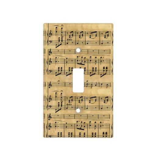 Vieille conception de papier parcheminé d'illustra plaques interrupteur de lumière