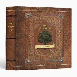 Vieille généalogie simili cuir d'arbre classeurs vinyle