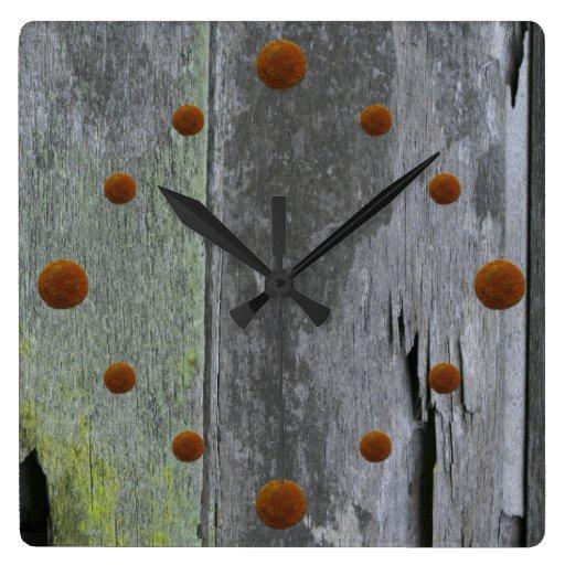 Vieille horloge murale en bois de grange  Zazzle ~ Vieille Horloge En Bois