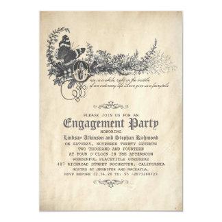 Vieille invitation vintage de partie de