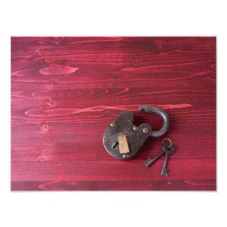 Vieille serrure et clés de mode impression photographique