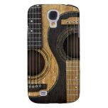 Vieilles et usées guitares acoustiques Yin Yang