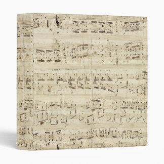 Vieilles notes de musique - feuille de musique classeur 3 anneaux