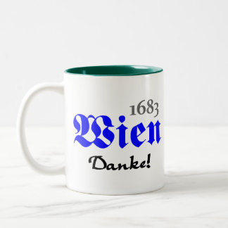 Vienna 1683 - Thanks Two-Tone Coffee Mug
