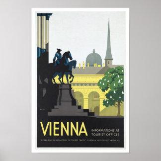 Vienna Austria - Vintage Travel Poster