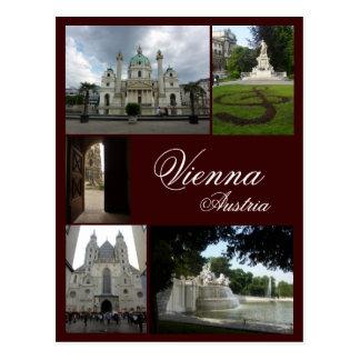 Vienna Collage Postcard