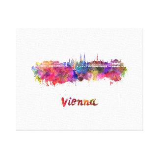 Vienna skyline in watercolor canvas print