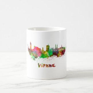 Vienna skyline in watercolor coffee mug