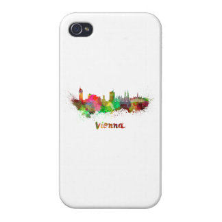 Vienna skyline in watercolor iPhone 4 covers