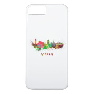 Vienna skyline in watercolor iPhone 8 plus/7 plus case
