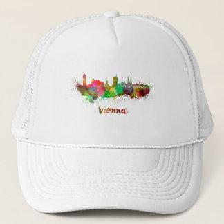 Vienna skyline in watercolor trucker hat