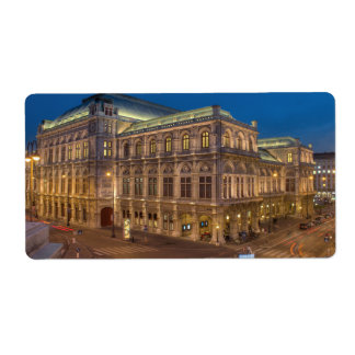 Vienna State Opera, Austria Personalized Shipping Labels