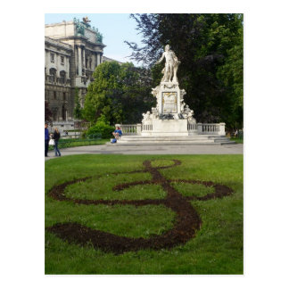 Vienna Statue (Mozart) Postcard