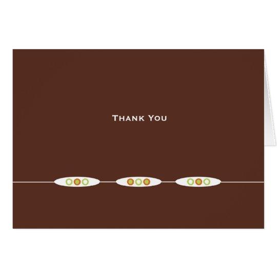 Vienna Thank You Card: Dark Chocolate Card