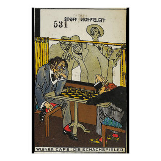Viennese Café: The Chess Players (Wiener Café: Die Poster