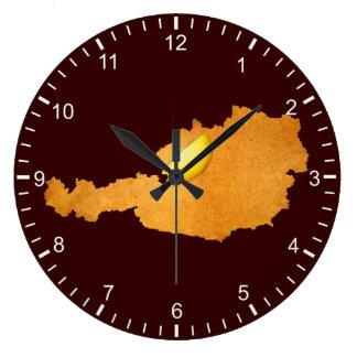 Viennese Schnitzel - Map Of Austria Large Clock