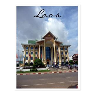 vientiane architecture postcard